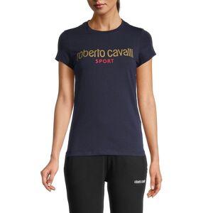 roberto cavalli SPORT Women's Short Sleeve Logo T-Shirt - Grey - Size M  Grey  female  size:M