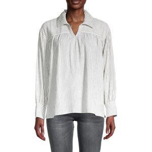 sundays Women's Caplan Pinstriped Shirt - Black White - Size 2 (M)  Black White  female  size:2 (M)