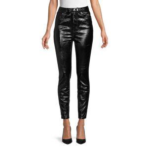 Free People Women's Phoenix Coated Jeans - Liquid Black - Size 29 (6-8)  Liquid Black  female  size:29 (6-8)