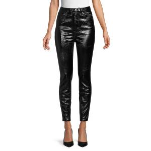 Free People Women's Phoenix Coated Jeans - Liquid Black - Size 28 (4-6)  Liquid Black  female  size:28 (4-6)