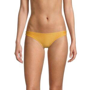 Solid and Striped Women's The Eva Bikini Bottom - Glitter Gold - Size XS  Glitter Gold  female  size:XS