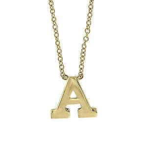 Effy Women's 14K Yellow Gold Letter Pendant Necklace - Letter O  Letter O  female  size:one-size