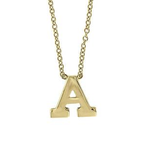 Effy Women's 14K Yellow Gold Letter Pendant Necklace - Letter W  Letter W  female  size:one-size