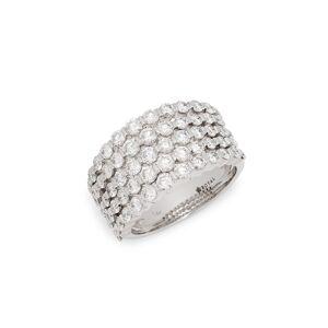 Saks Fifth Avenue Women's 14K White Gold & Diamond Ring/Size 7 - Size 7  White Gold  female  size:7