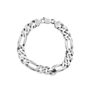 Effy Men's Sterling Silver Ultra Flat Figaro Chain Bracelet  Silver  male  size:one-size
