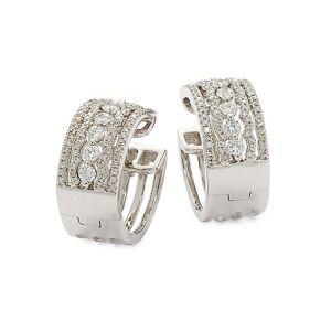 Saks Fifth Avenue 14K White Gold & Diamond Earrings