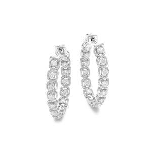 Diana M Jewels Women's 14K White Gold & 2.0 TCW Diamond Hoop Earrings  White Gold  female  size:M