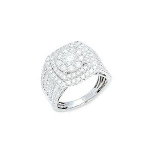 Effy Women's 14K White Gold & Diamond Ring/Size 7 - Size 7  White Gold  female  size:7