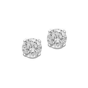 Effy Women's 14K White Gold & 0.32 TCW Diamond Stud Earrings  White Gold  female  size:one-size