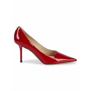 Jimmy Choo Patent Leather Pumps size: 37 (7)[Women]; RED