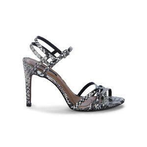 BCBGMAXAZRIA Women's Tanya Snakeskin-Embossed Strappy Sandals - White - Size 6.5  White  female  size:6.5