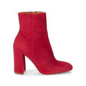 Mansur Gavriel Women's Suede Ankle Booties - Red - Size 41 (11)  Red  female  size:41 (11)