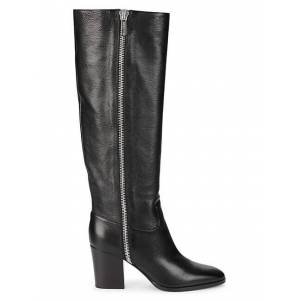 Sergio Rossi Knee-High Leather Boots  NERO  Women  size:36.5 (6.5)