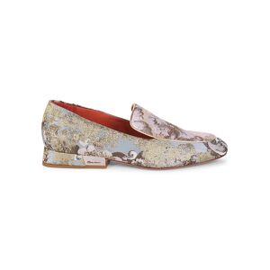Santoni Women's Printed Heeled Loafers - Light Blue - Size 39 (9)  Light Blue  female  size:39 (9)