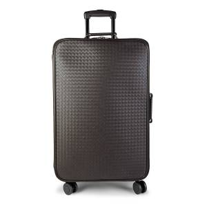 Bottega Veneta Woven Leather Suitcase - Espresso  Espresso  female  size:one-size