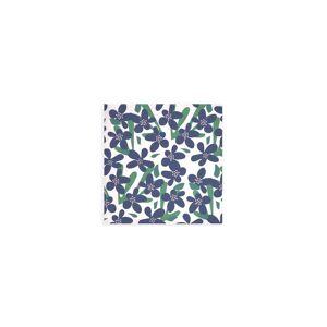 VIDA Wood Wall Art - 12x12 - Abstract Blue Flowers Pat by VIDA Original Artist  - Size: Small