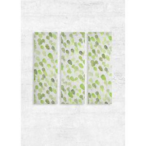 VIDA Wood Wall Art - Set of 3 - Watercolor Drop Sap Green in Green/White/Yellow by VIDA Original Artist  - Size: One Size