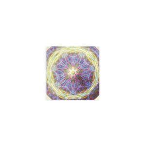 VIDA Wood Wall Art - 12x12 - The Energy Field 6.5 in Brown/Purple by VIDA Original Artist  - Size: Small