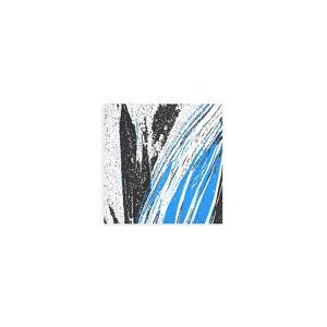 PRIDE Wood Wall Art - 12x12 - Blue, Black & White #6 in Black/Blue/Cyan by PRIDE Original Artist  - Size: Small
