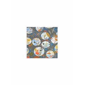 VIDA Wood Wall Art - 12x12 - My  Rose Garden 6 in Blue/Brown by VIDA Original Artist  - Size: Small