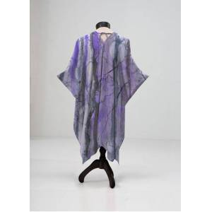 VIDA Sheer Wrap - Night Wilds Mixed Media in Purple by VIDA Original Artist  - Size: Plus