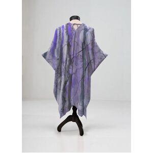 VIDA Sheer Wrap - Night Wilds Mixed Media in Purple by VIDA Original Artist  - Size: Petite