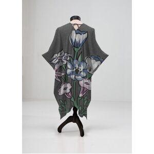VIDA Sheer Wrap - Bouquet Wild Olive Flower by VIDA Original Artist  - Size: Petite