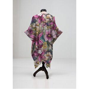 VIDA Sheer Wrap - Wild Springtime Floral by VIDA Original Artist  - Size: Plus