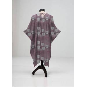 VIDA Sheer Wrap - Wild Stare in Purple by VIDA Original Artist  - Size: Regular