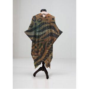 VIDA Sheer Wrap - Wild Print in Brown/Green by VIDA Original Artist  - Size: Plus