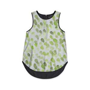 VIDA Sleeveless Top - Watercolor Drop Sap Green in Green/White/Yellow by VIDA Original Artist  - Size: Black / 1X