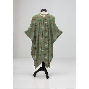 VIDA Sheer Wrap - Wild Horses Country Chic in Brown/Green by VIDA Original Artist  - Size: Plus