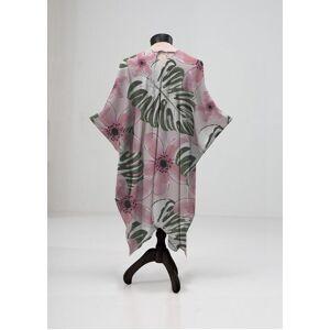 VIDA Sheer Wrap - Pink Wild Flower in Brown/Pink/Purple by VIDA Original Artist  - Size: Plus