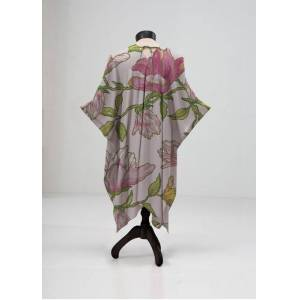 VIDA Sheer Wrap - Wild Pink Nature in Brown/Pink/Purple by VIDA Original Artist  - Size: Petite