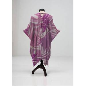 VIDA Sheer Wrap - Wild Pink Jungle in Brown/Pink/Purple by VIDA Original Artist  - Size: Plus