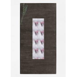 VIDA Table Runner - I'm Back in Brown/Pink by VIDA Original Artist  - Size: Short