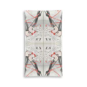 VIDA Oblong Glass Tray - B I Z Z A R E in Brown/Pink/Red by VIDA Original Artist  - Size: Large