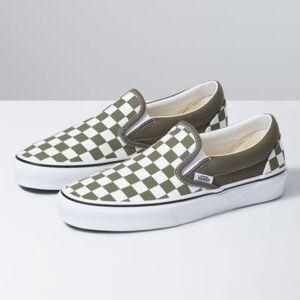 Vans Checkerboard Classic Slip-On (Grape Leaf/True White)  - Size: adult