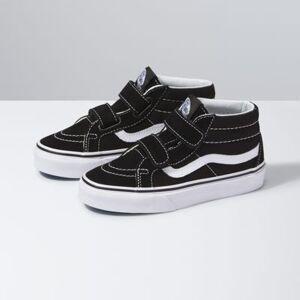 Vans Kids Sk8-Mid Reissue V (black/true white)  - Size: 10.5 Kids