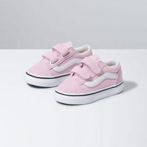 Vans Toddler Old Skool V (Lilac Snow/True White)  - Size: 4.5 Toddler