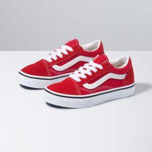 Vans Kids Old Skool (Racing Red/True White)  - Size: 2.5 Kids