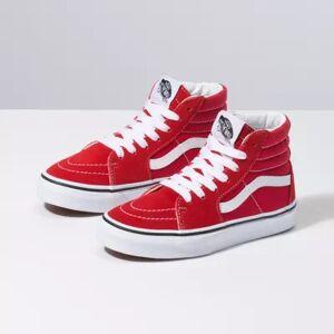 Vans Kids Sk8-Hi (Racing Red/True White)  - Size: 12.0 Kids