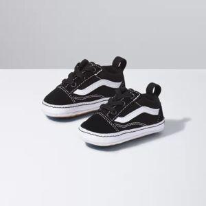 Vans Infant Old Skool Crib (Black True White)  - Size: 0-6 Weeks