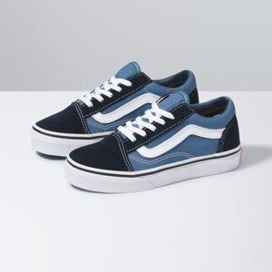 Vans Kids Old Skool (navy/true white)  - Size: 1.5 Kids