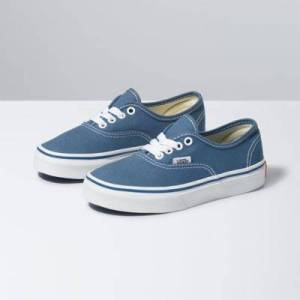 Vans Kids Authentic (navy/true white)  - Size: 13.0 Kids
