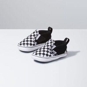Vans Infant Checker Slip-On V Crib (black/true white)  - Size: 6-12 Weeks