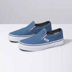 Vans Kids Slip-On (navy/true white)  - Size: 2.0 Kids