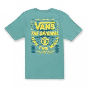 Vans Boys Before And After T-Shirt (Oil Blue)  - Size: kids