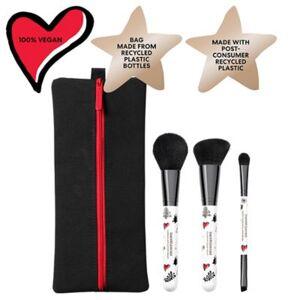 bareMinerals 3-Piece Brush Set + Bag