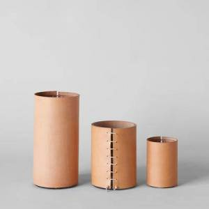 Bloomist Leather Wrapped Vase, Extra Small